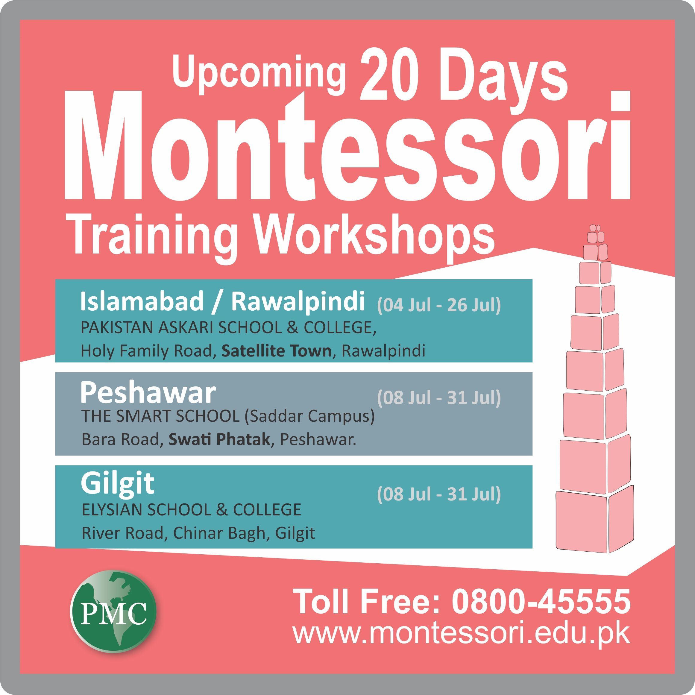 PMC's 20 DAYS MONTESSORI TEACHERS TRAINING
