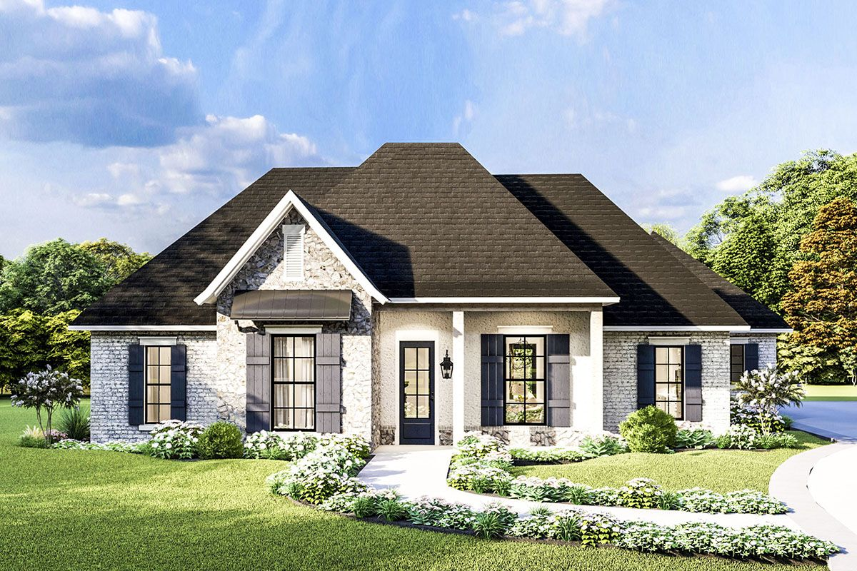 Plan 62156v Attractive One Level Home Plan With High Ceilings One Level Homes Level Homes One Level House Plans