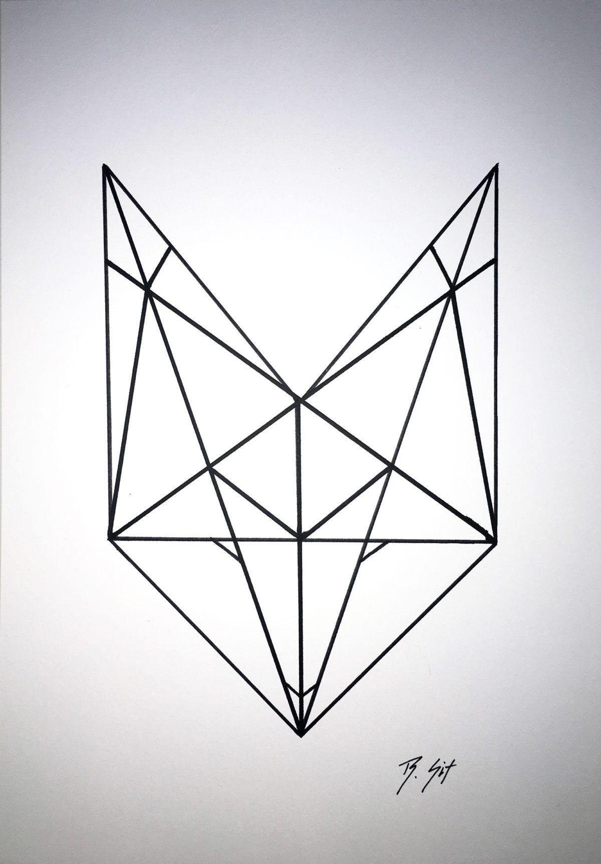 The Geometric Love Fox Interior Design Pinterest Foxes Tattoo