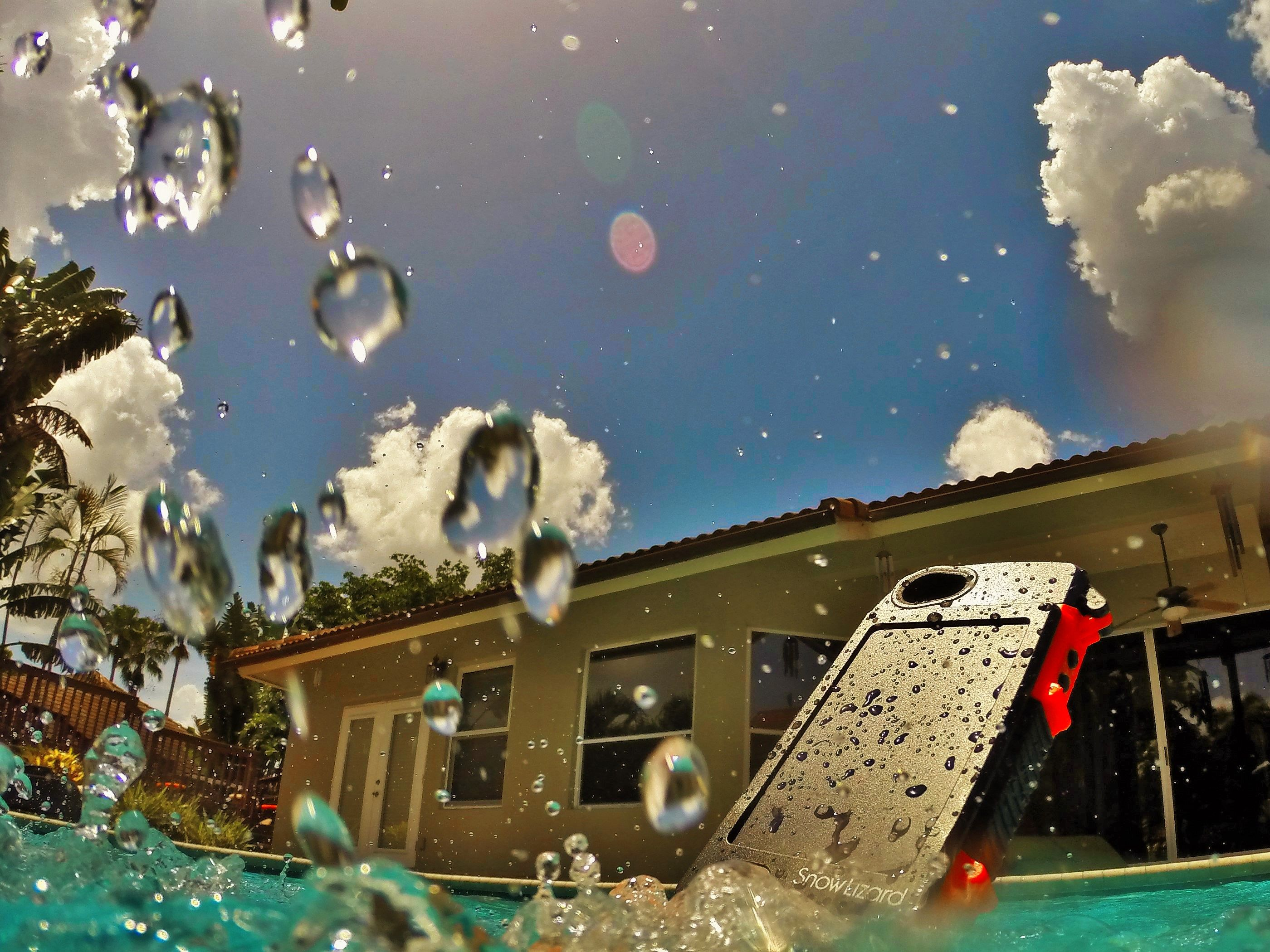 pool splash cannonball. Phones Can Cannonball Too As Long They Have A Snowlizard With Them. #SLXtreme5 Pool Splash