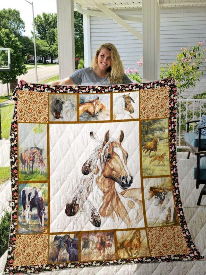 Hha1308 horse just a girl who loves horses blanket blanket