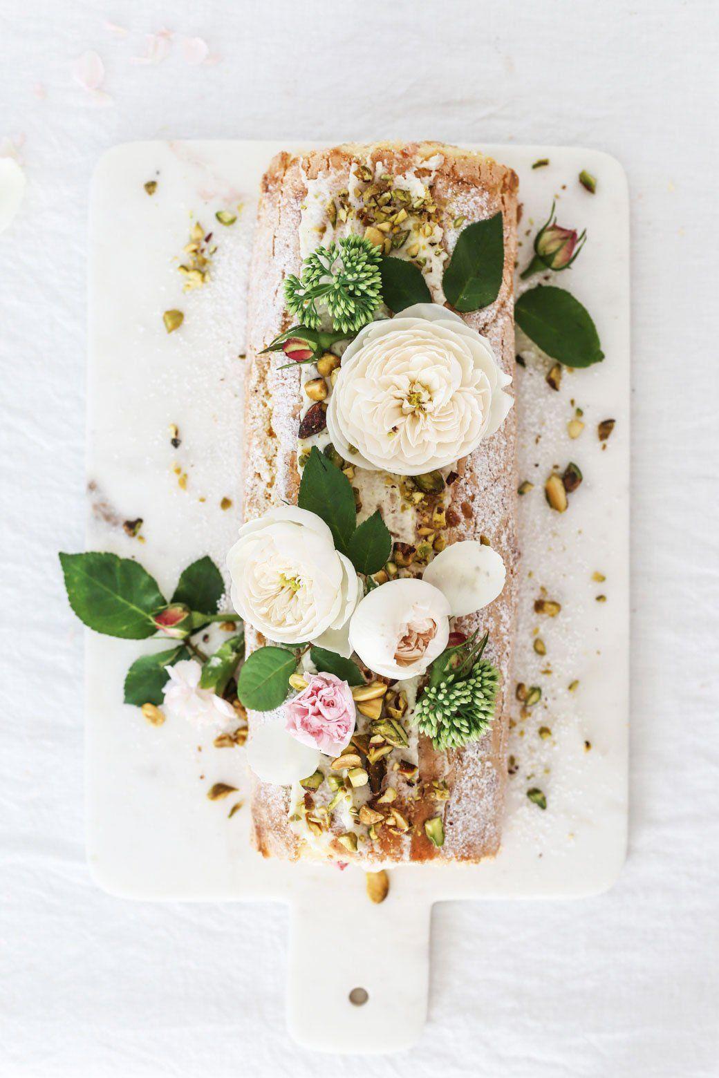 Strawberry Champagne Swiss Cake Roll Recipe
