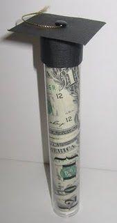 graduation tube with money