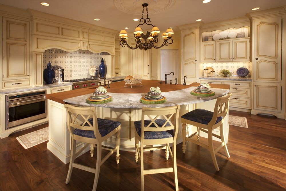 French Country Kitchen. Soft yellow custom Wood