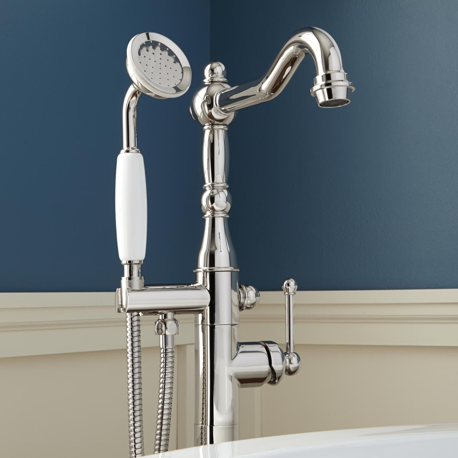 Sidonie Freestanding Tub Faucet with Hand Shower | Freestanding tub ...