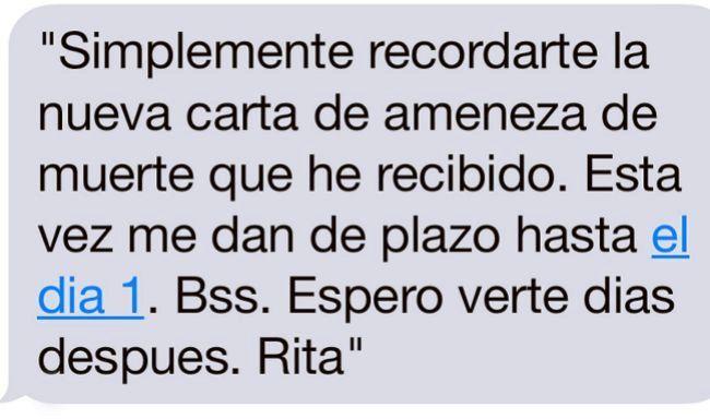 El último SMS de Rita Barberá y sus 37 horas en la habitación 315