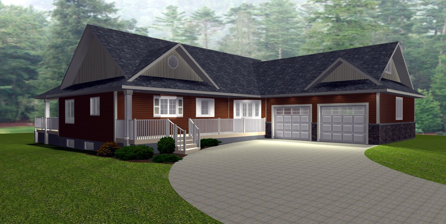 Free ranch house plans with walkout basement new house for Bungalow house plans with basement and garage