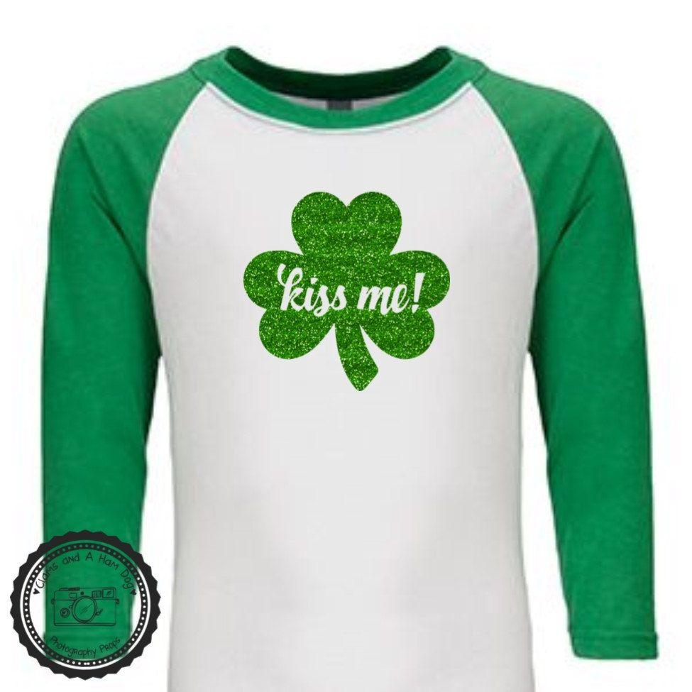 Retro Clover for St Patricks Day 3//4 Sleeve Baseball Jersey Toddler Shirt
