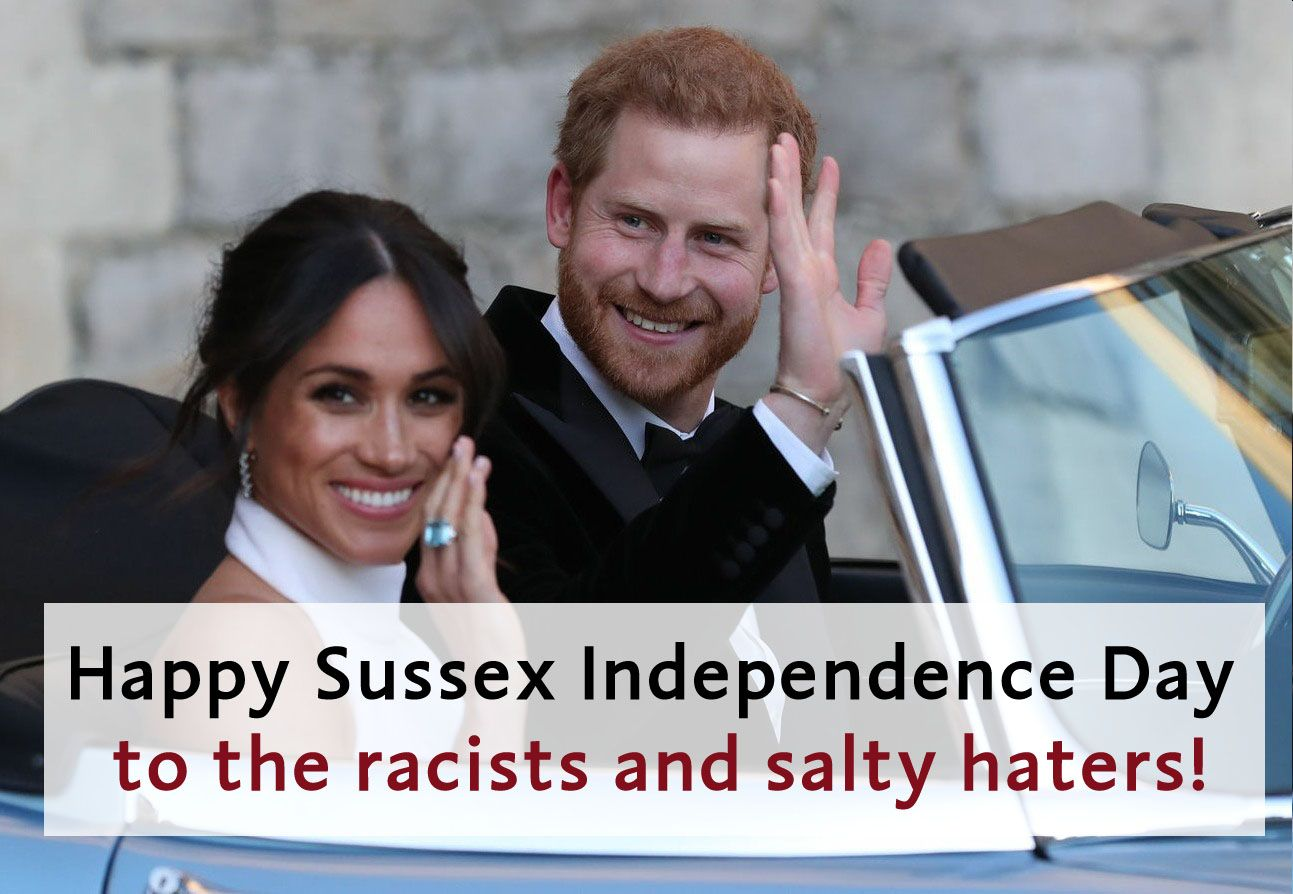 #DuchessMeghan and #PrinceHarry are no longer working under the #SussexRoyal brand. Happy #SussexIndependence day! #Sussexit #DuchessofSussex #DukeofSussex #Sussexes #Royals #RoyalFamily #MeghanMarkle #MeghanandHarry #HarryandMeghan #BabyArchie