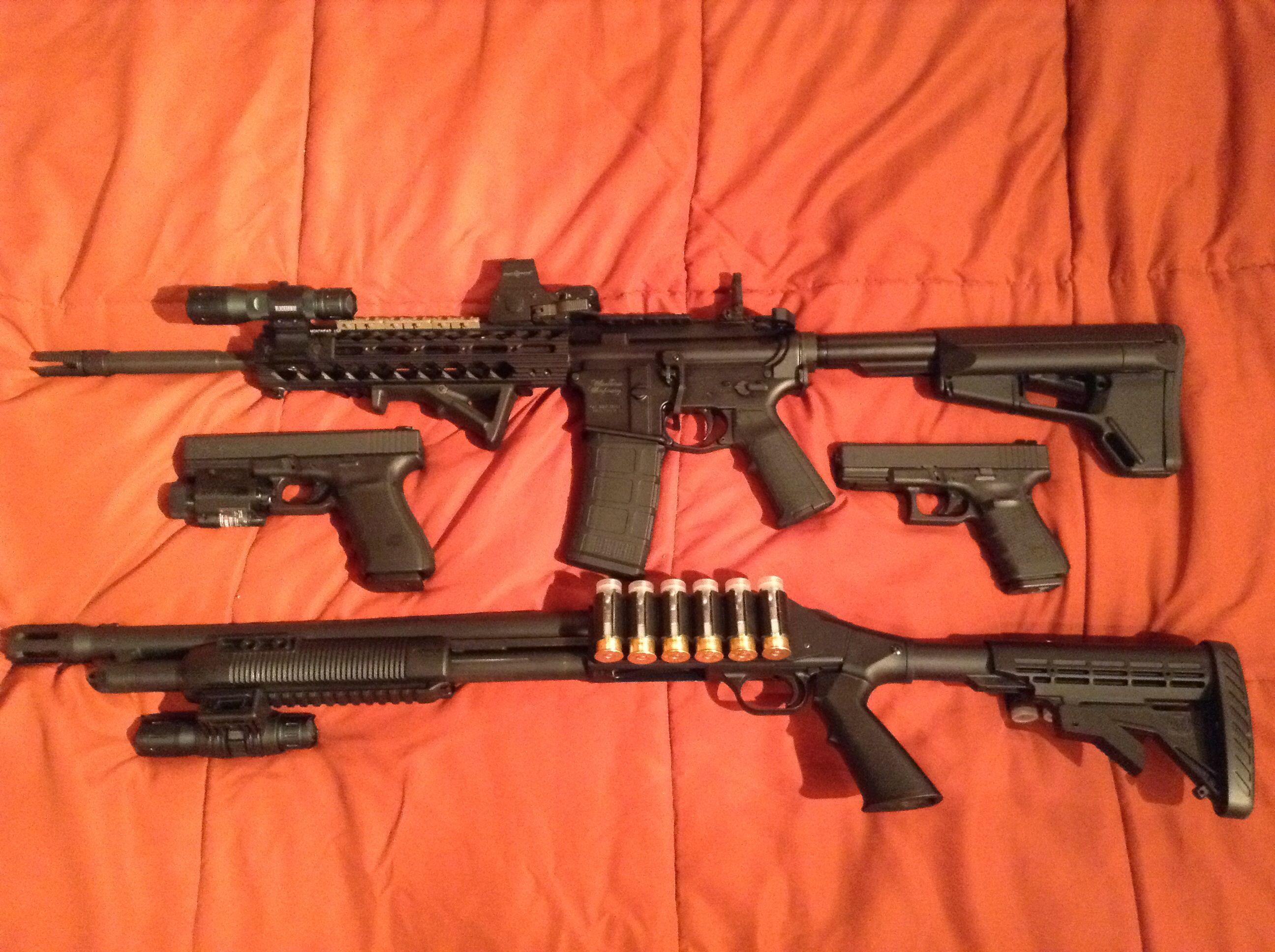 Windham Weaponry CDI, Mossberg 500 Thunder Ranch, Glock 21 Gen 4 ...