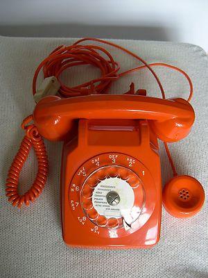 telephone orange vintage seventies socotel s 63 gamla tider pinterest. Black Bedroom Furniture Sets. Home Design Ideas