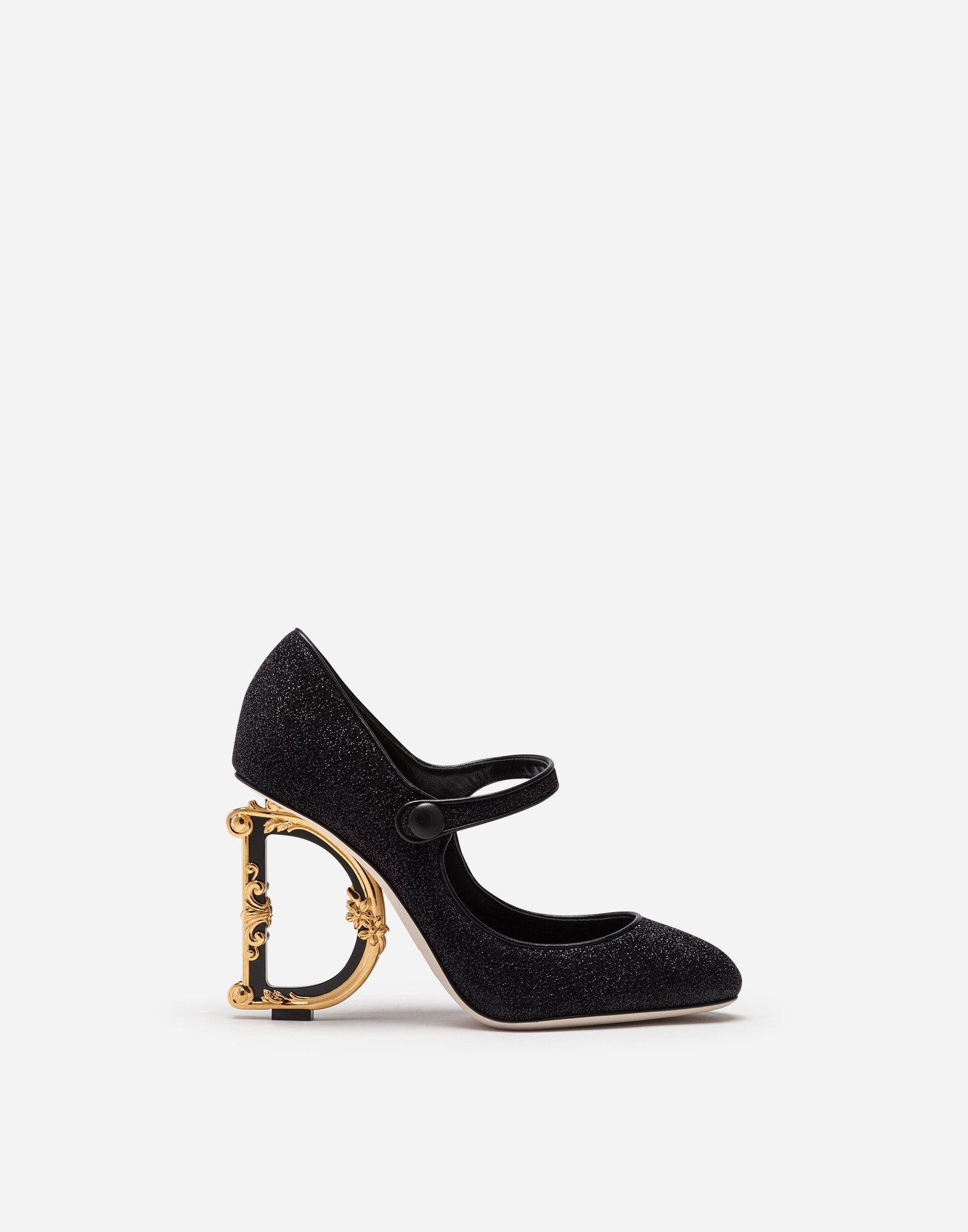 c3943d5dbee7b Mary janes in lurex with sculpted heel in 2019 | Dolce & Gabbana ...