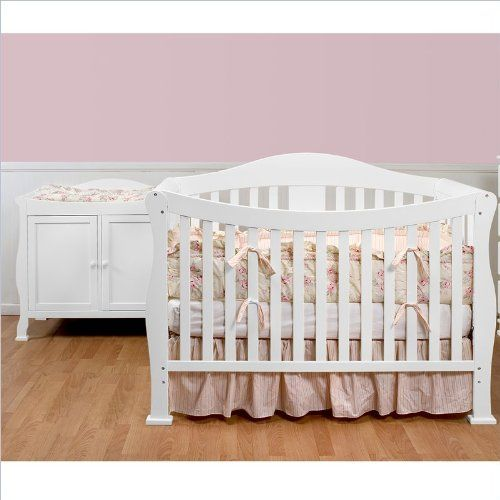 Davinci Parker Convertible Wood Baby Crib W Toddler Rail In White Lowest Price Online On All