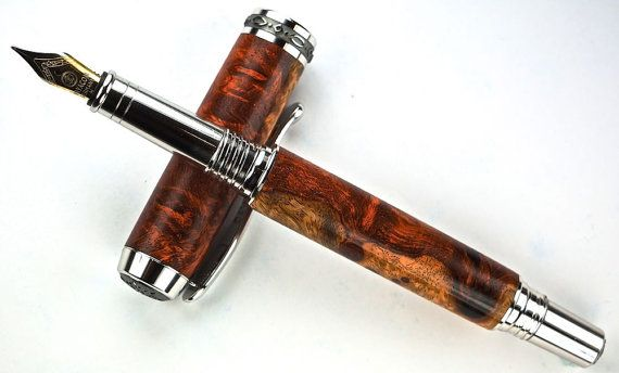 Handcrafted Wooden Pen Hand Turned Fountain By Mikespenturningz Handcrafted Wooden Pens Wooden Pen Pen
