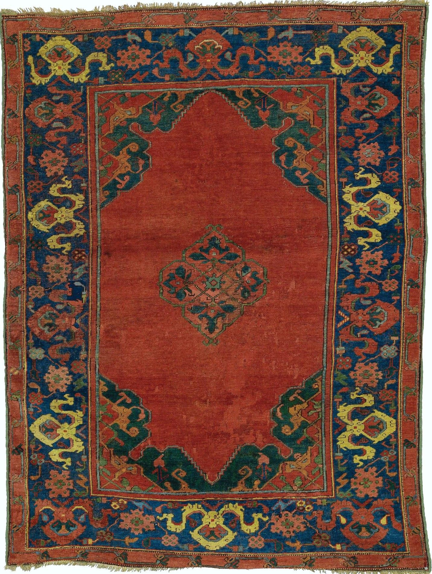 Turkish Oushak Rug 153 By 113cm Late 16th Century Old Turkish