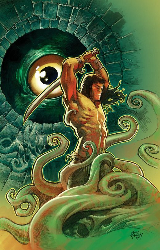 conan by eric powell.  one of my fav.comic book artists draws one of my fav.fictional characters. win-win.