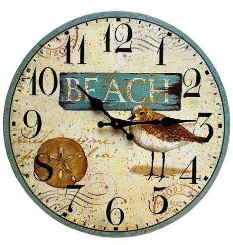 Beach Bird Clock, beach decor,coastal,beach theme