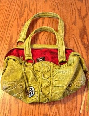 204fed813f5d Red Marc Ecko Great Details Green Fall Leather Ruffle Hobo Purse Double  Strap   eBay