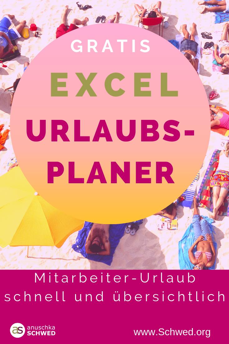 Excel Urlaubsplaner 2020 Kostenlose Vorlage Zum Download