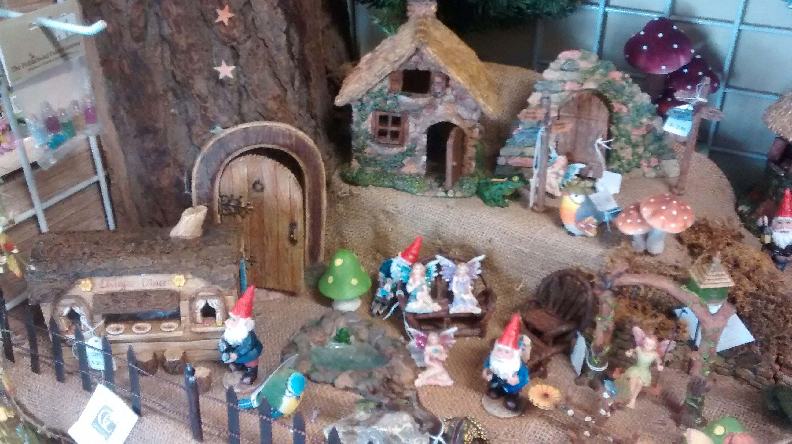 Gnome village at Ladd s Garden Center