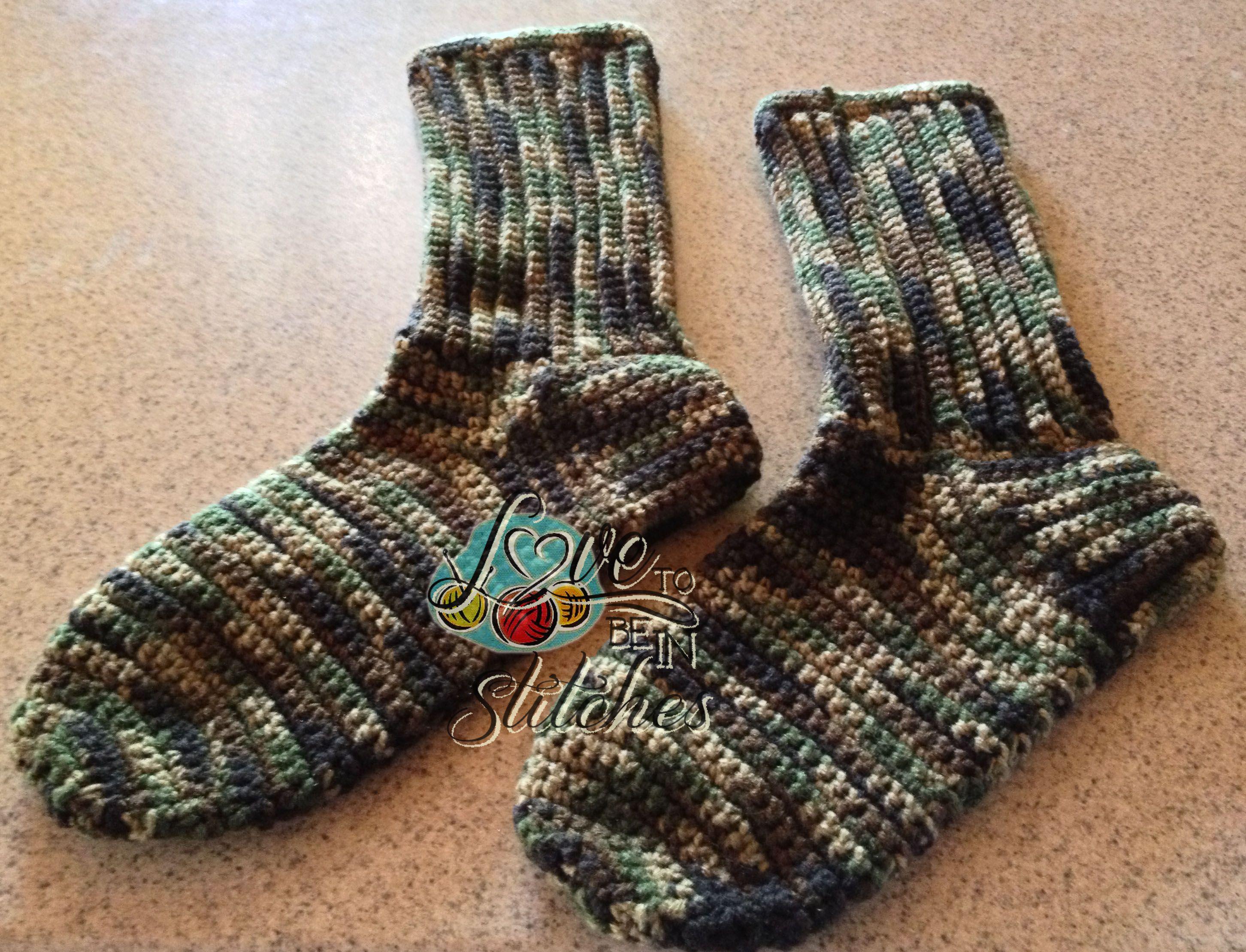 Men\'s Crocheted Socks. FREE pattern. | men\'s items | Pinterest ...