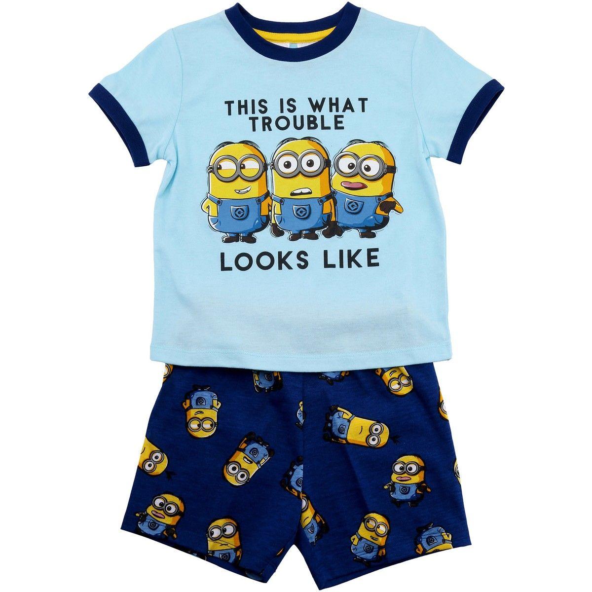Minions Boys Pyjamas Set Light Blue BIG W Boys