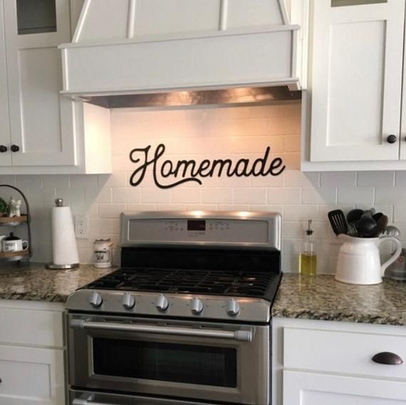 Homemade Metal Sign | Homemade Sign | Kitchen Decor | Homemade