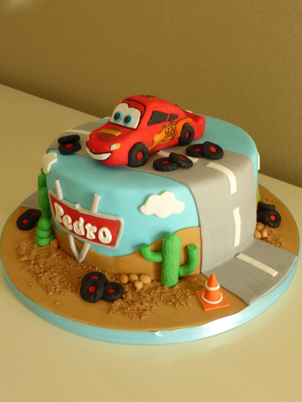 Lightning Mcqueen Disneys Cars Birthday Cake Cakes Pinterest