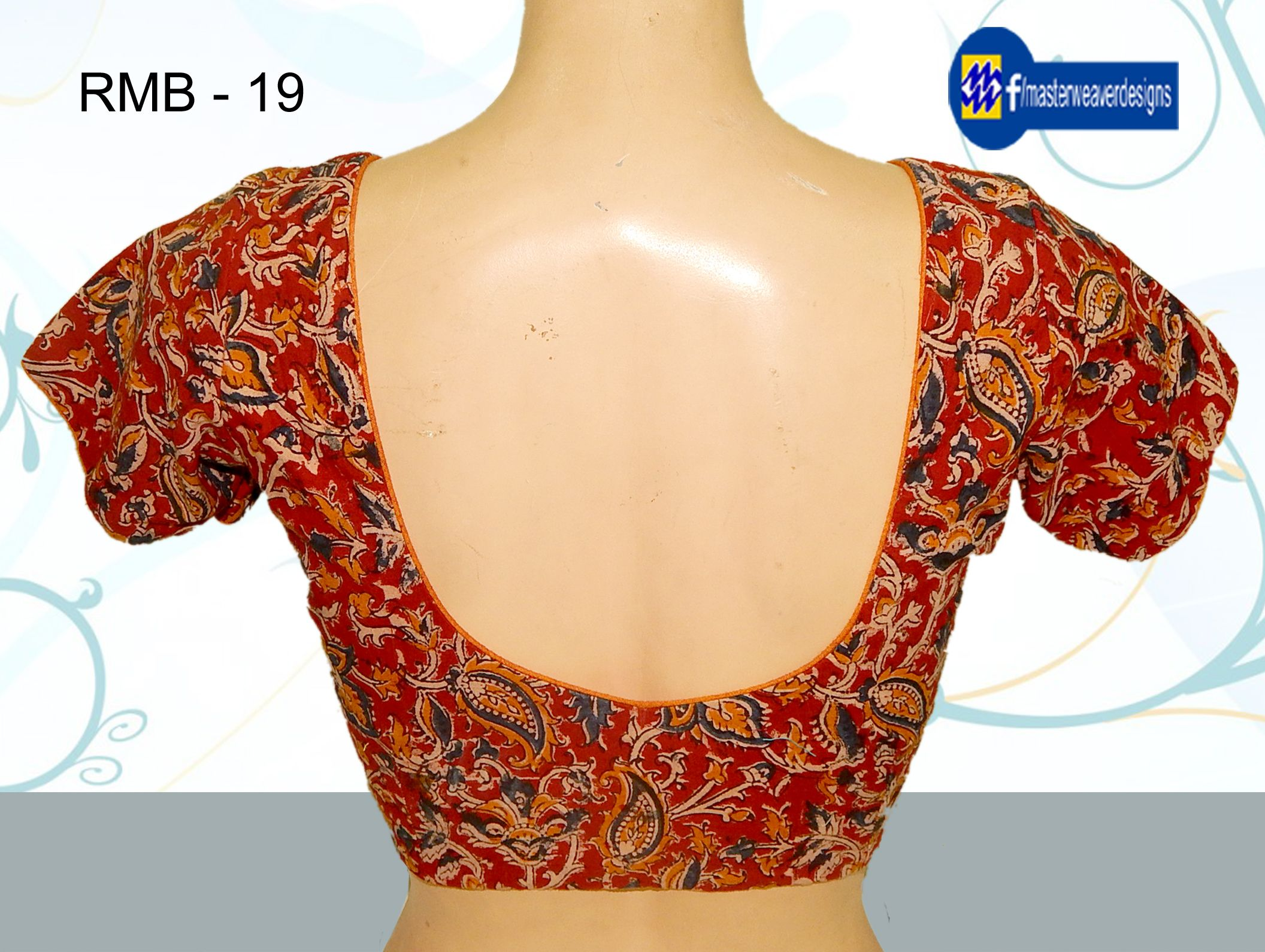 Ready Made Blouse Is Designed By Using Kalamkari Fabric At Back