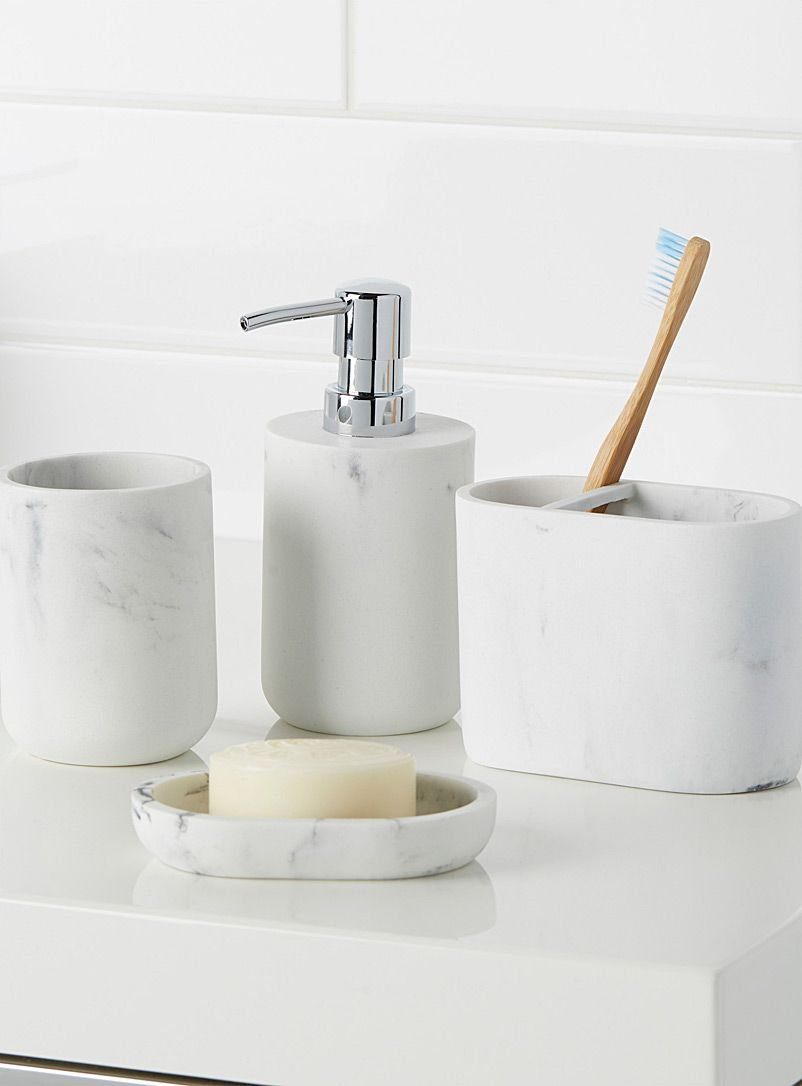 Faux-marble accessories | Soap dishes, Apartments and House