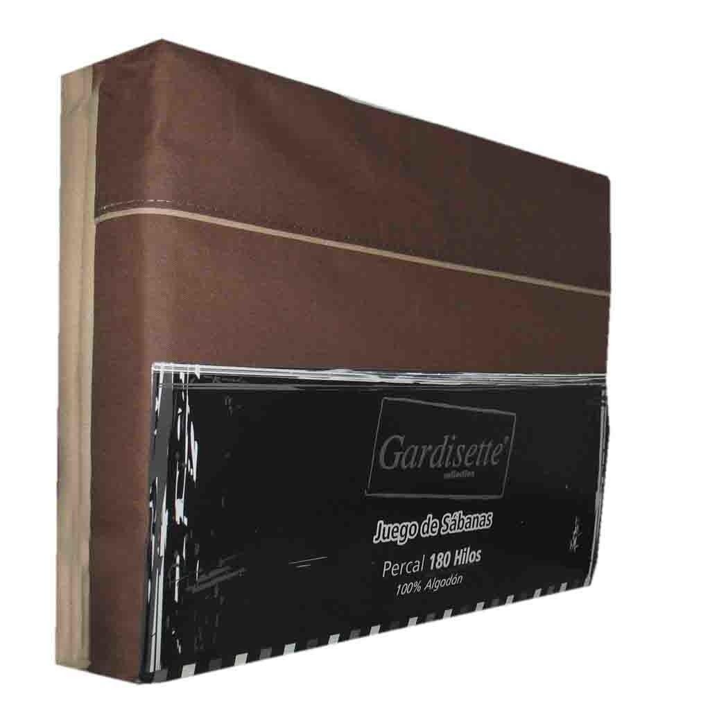 Sabanas Gardisette 1 Plazas 100x100 Algodon Chocolate Beige — Citiblanc