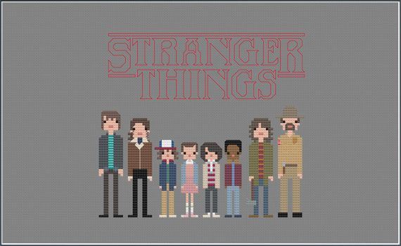 8-Bit Wonder  Stranger Things PDF by CatLadyCrossStitch on Etsy