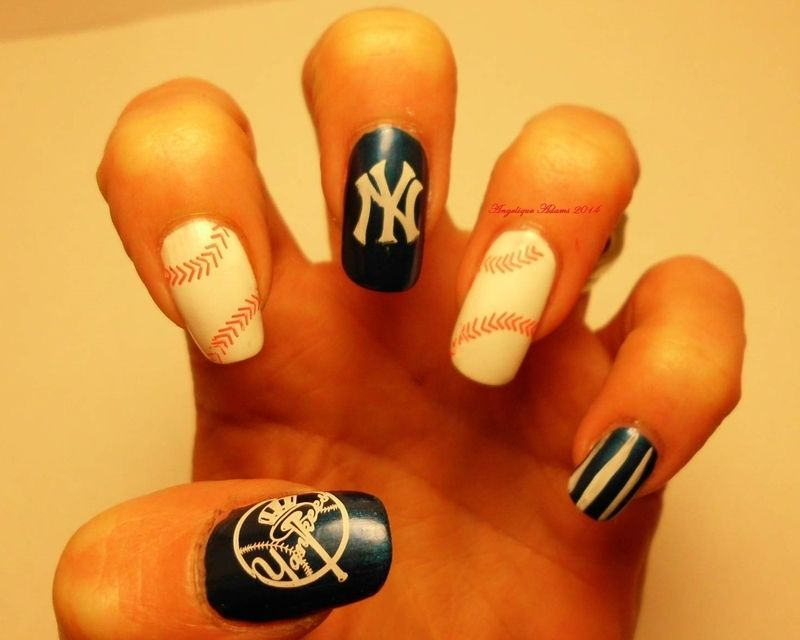 Nailpolis Museum of Nail Art | New York Yankees by Angelique Adams ...