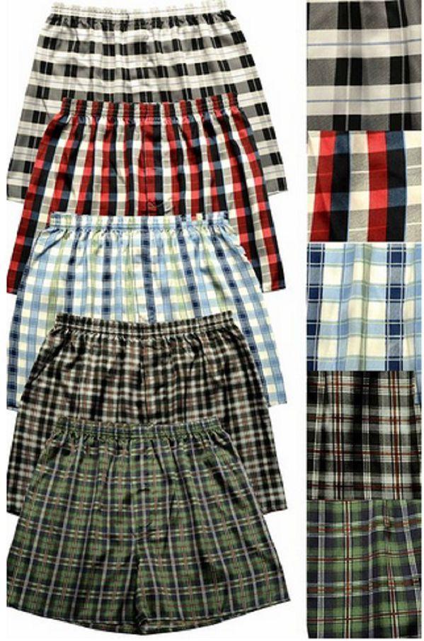 Men's Quality Satin Boxer Shorts 5 Pair Smooth Soft