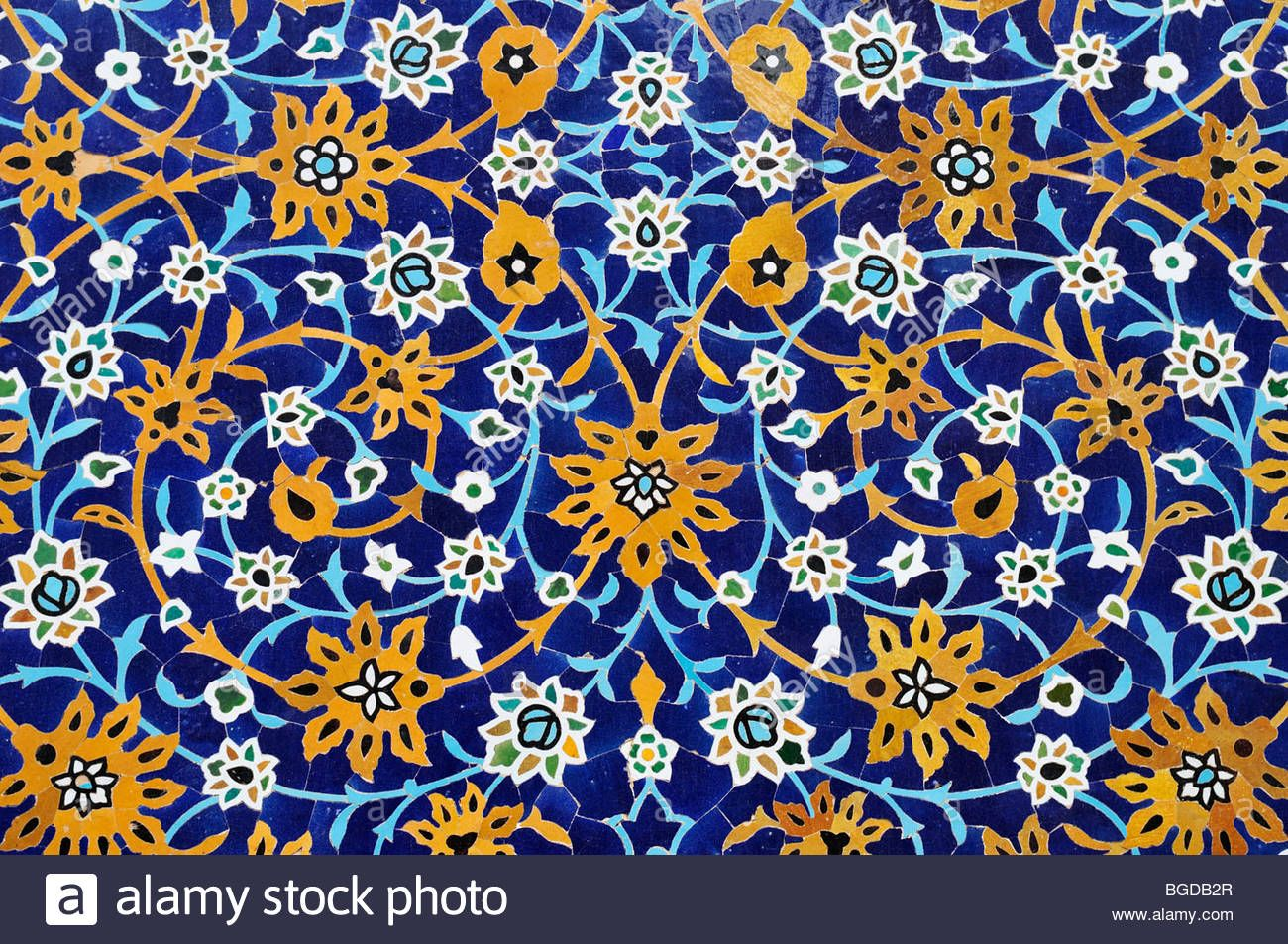 Colorful Faience Tiles At A Mosque In Ardabil, Iran, Persia, Asia ...