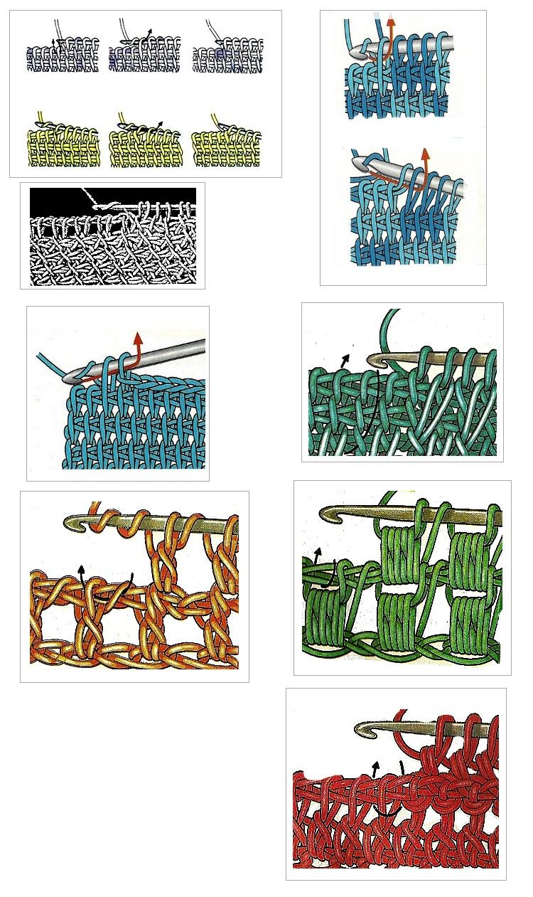 Lots of different tunisian crochet stitches… … | Tunisian Crochet ...