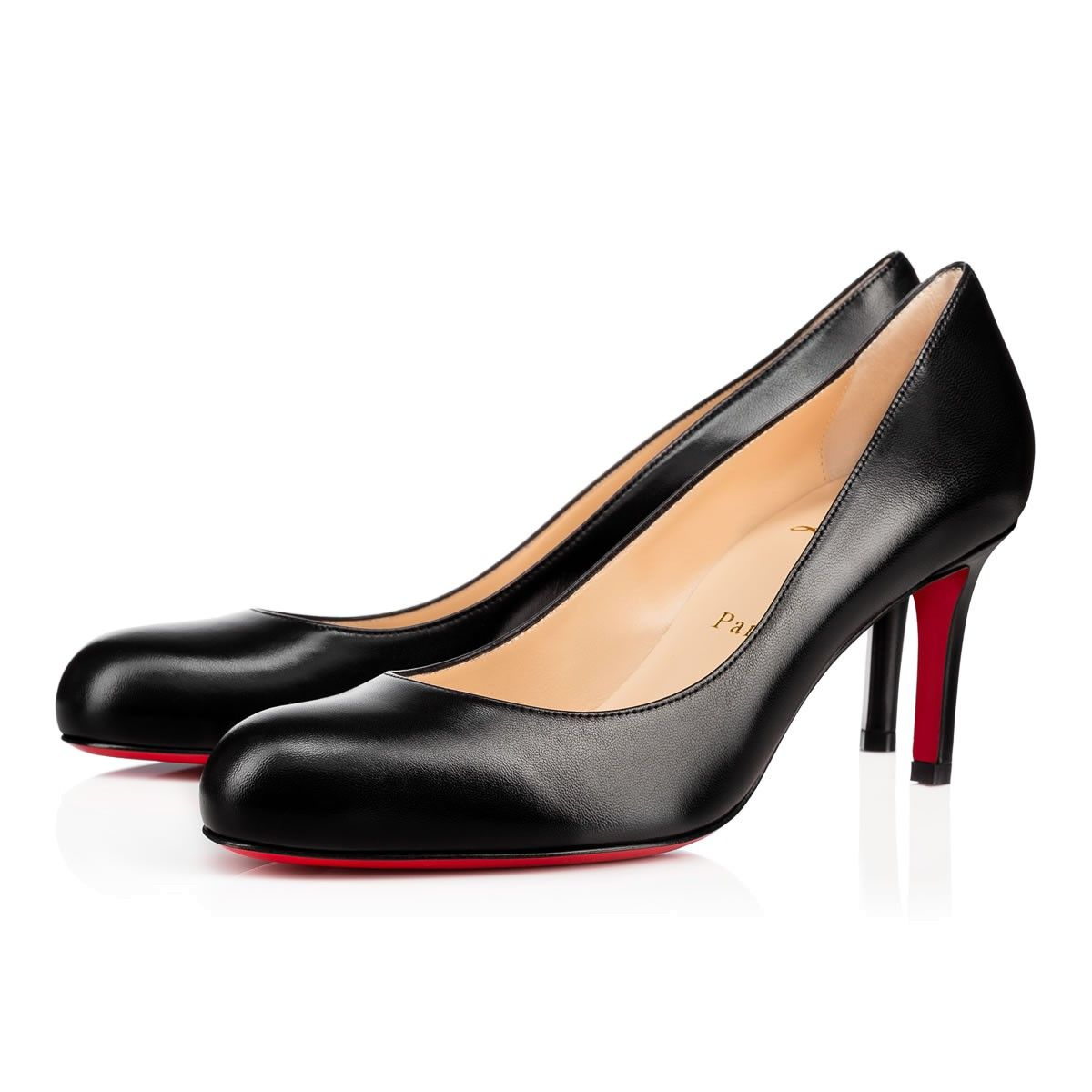 72452f7d1ad Simple Pump 70mm Black Leather | Cani | Shoes, Pumps, Red bottom heels