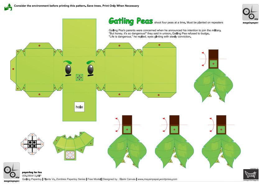 Pin de damien en pvz party en 2019 paper crafts diy y for Como hacer la casa de plantas vs zombies en minecraft