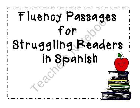 Spanish Fluency Passages product from Angelica-Sandoval on