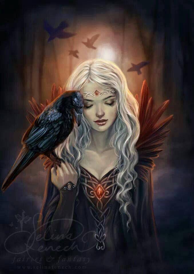 Witch With Raven .   (https://www.facebook.com/FantasyArt)