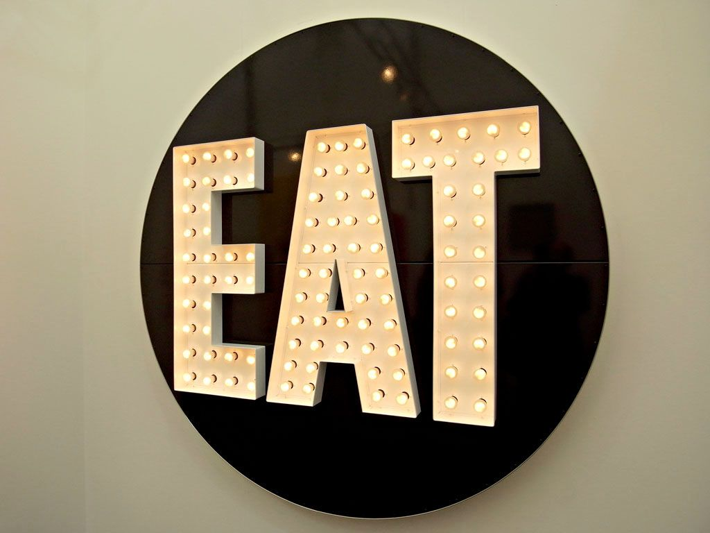 Robert indiana the electric eat polychromed aluminum