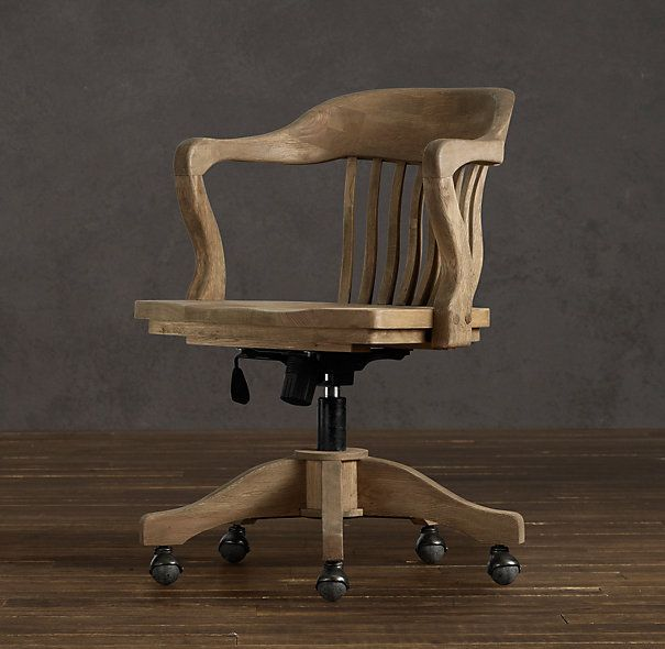 Fantastic 1940s Bankers Chair Weathered Oak Drifted  Home