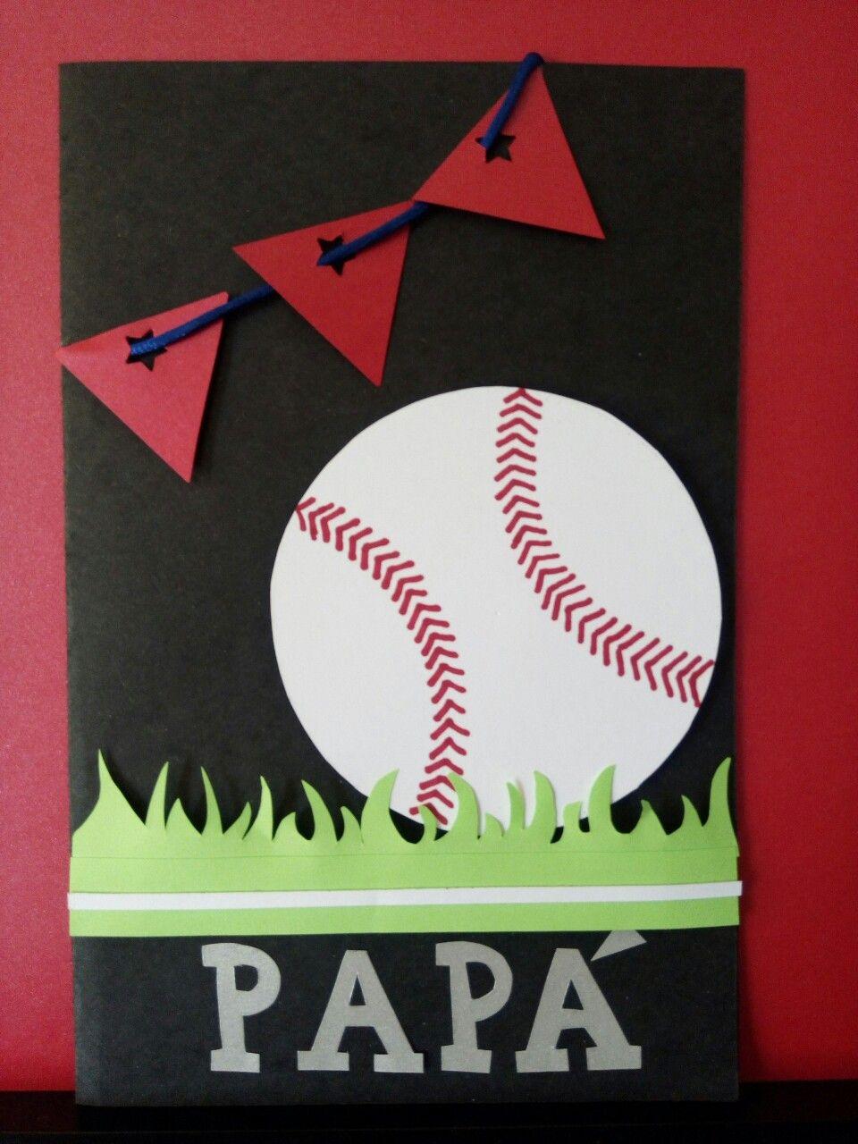 Tarjeta baseball día del padre