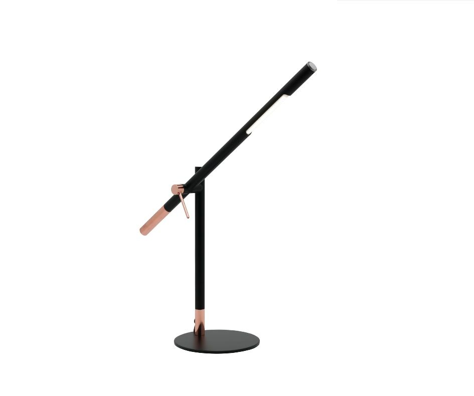 Vermont 5w Led Touch Table Lamp Dimmable Matt Black W Copper Mercator Desk A22611 Lamp Table Lamp Touch Table Lamps
