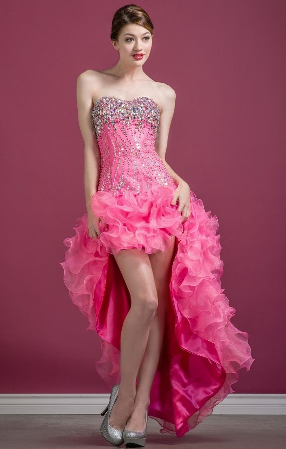 Sophisticated Rose Pink Dress for a Prom or Any Special Occasion ...