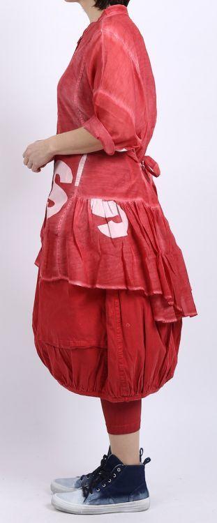 rundholz black label - Longbluse Cotton Seide Oversize strawberry print - Sommer…