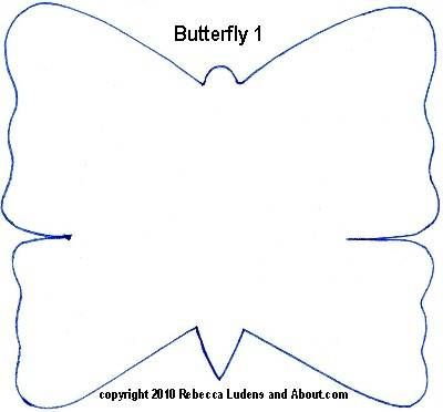 25 Fresh Paper Crafts for Spring Butterfly pattern, Printable