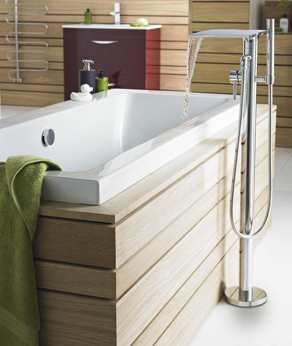 Mezclador Autoportante Para Bañera Independiente y Ducha de Mano
