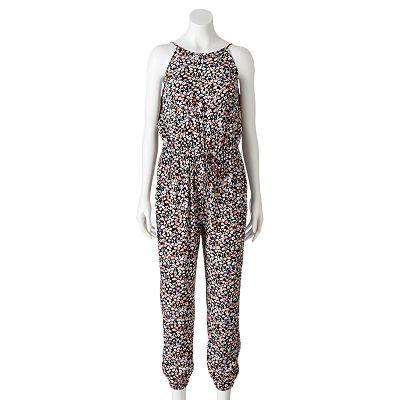 3d78952d7fe0 Mudd® Floral Halter Jumpsuit - Juniors