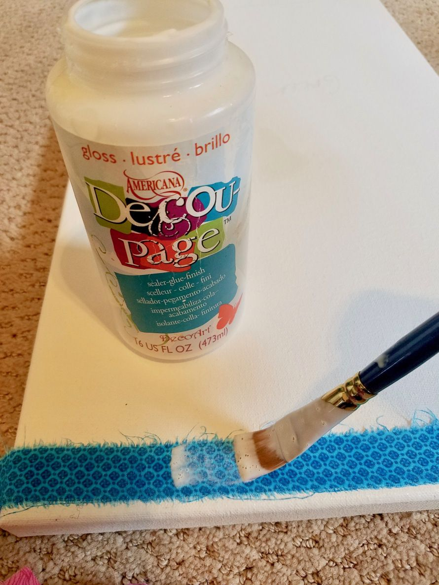 Diy simple upcycled wall art with fabric scraps fabric